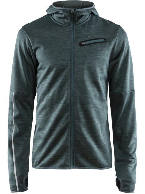 Craft M's Eaze Jersey Hood Jacket gravity melange